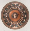 Embossed Copper Door Knob Front View
